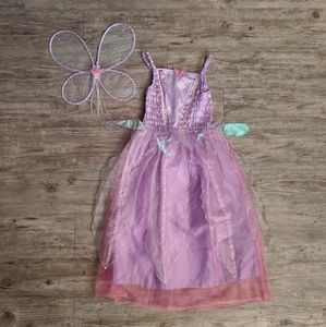 3 Pc Girls Pink Fairy Princess Costume All Sizes